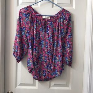 {Abercrombie & Fitch} Floral Blouse | S